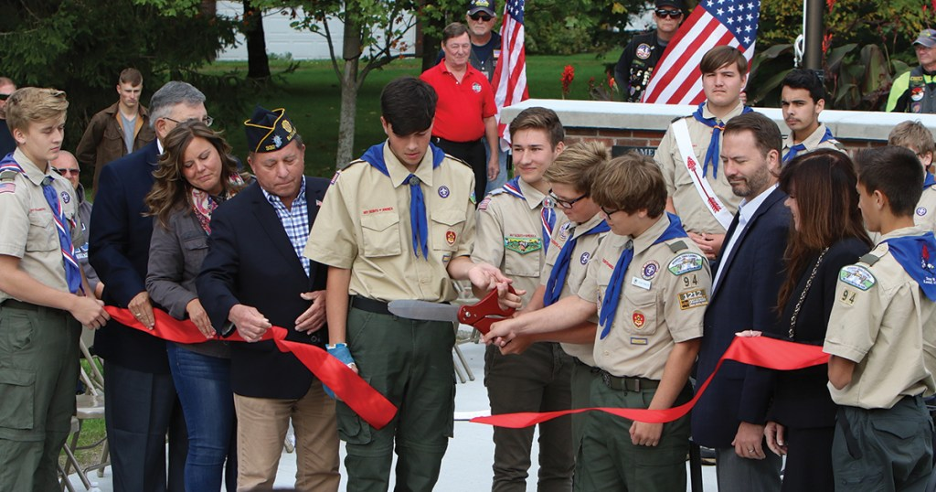 Four Scouts work together for impressive war memorial Eagle Scout project