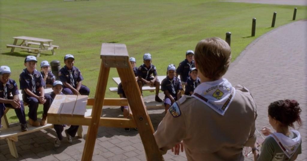 MacGyver back of uniform