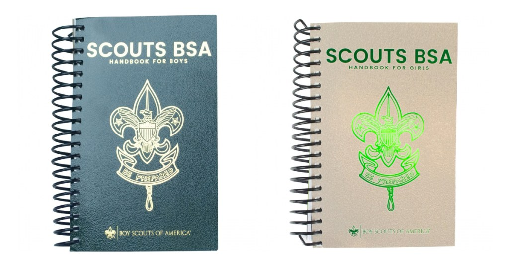 Scouts BSA Handbook covers for boys and girls