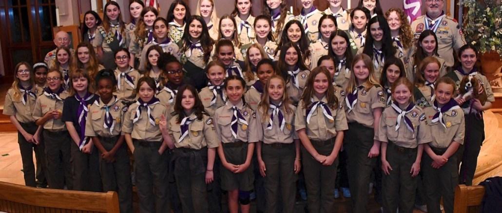 Scouts BSA troop in uniform.