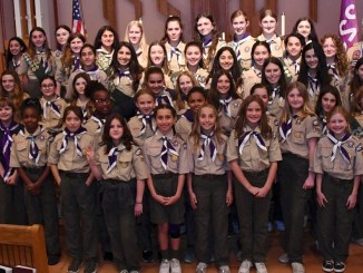 Scouts BSA troop in uniform.