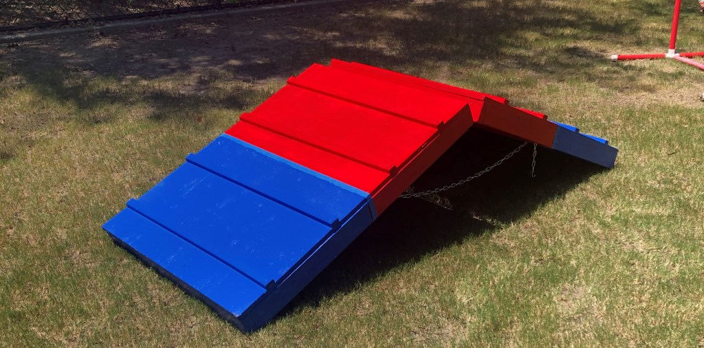An agility ramp for dogs