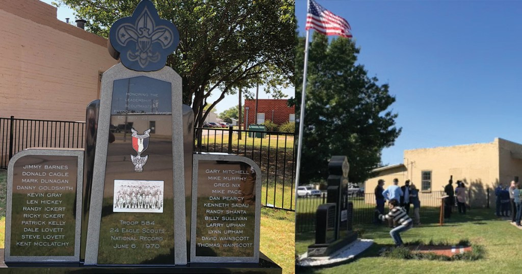 Texas town honors its leaders' legacy of guiding Eagle Scouts with a monument