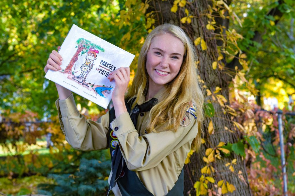 For her Eagle project, she wrote a book aimed at building empathy