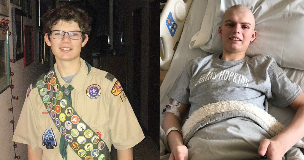 Scout endures battle with lymphoma on the trail to Eagle