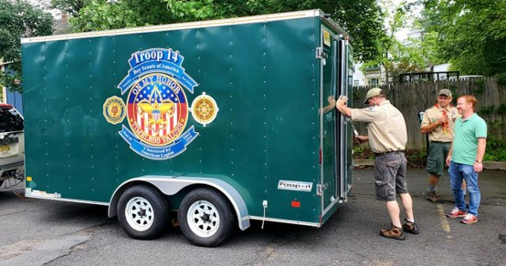 Troop goes green with trailer — and saves some green, too