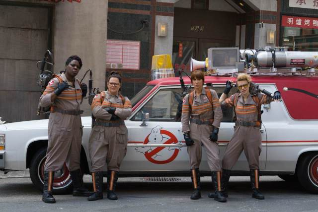Who you gonna call? The new team of Ghostbusters are suited and booted.