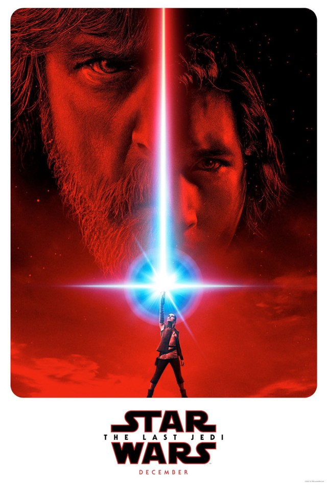 The first poster for Star Wars: The Last Jedi.