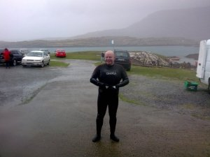 Aedan O'Ruanaidh, exiting at Scubadive West