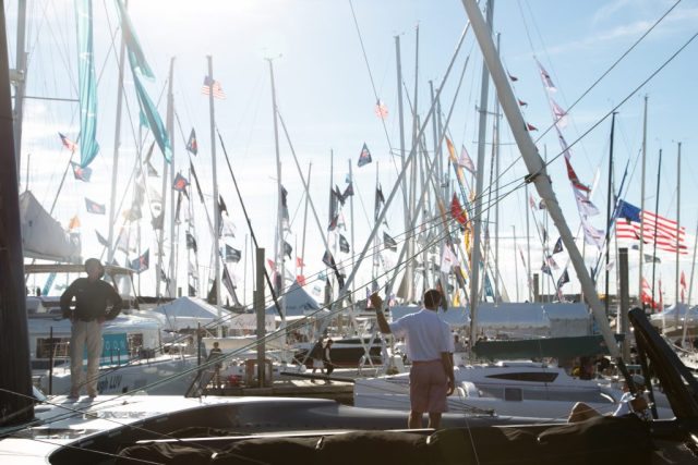 Photo of flags on sailboats