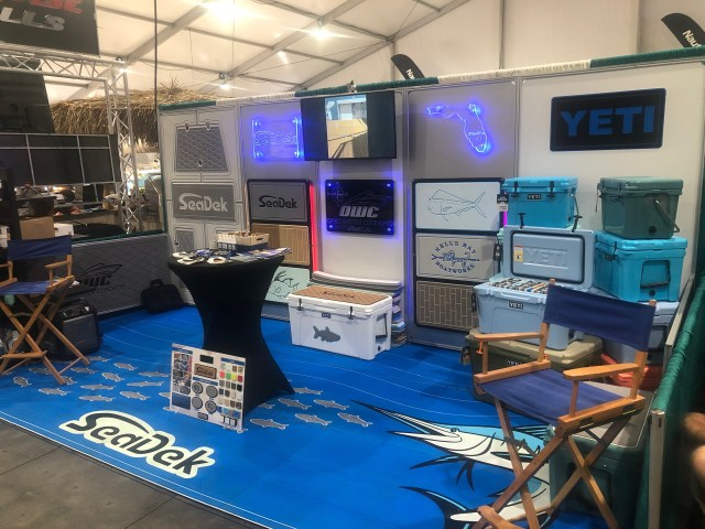 The Open Water Concepts booth featuring SeaDek