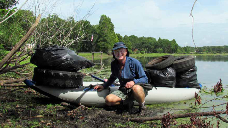 Bob Luce makes it his mission to drag debris from the Hillsborough River with help from his Sea Eagle boats.