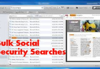 Bulk Social Security Searches