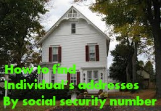 How to find individual's addresses by social security number