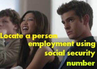 Locate a person employment using social security number