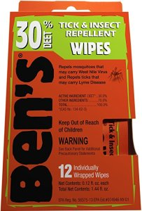 30% DEET Wipes: What to Pack for a Tropical Vacation