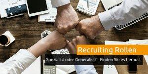 Recruiting Rollen im Überblick