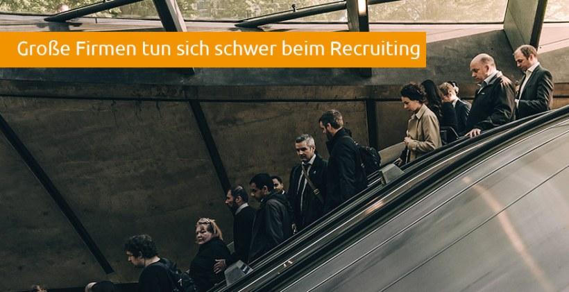 Studie Grosse Unternehmen Headhunter