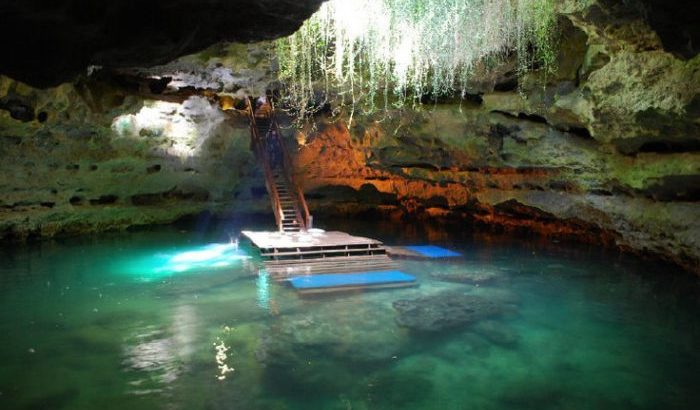 Devil's Den in Williston Florida is a natural underground cave formation for divers and snorkelers.