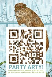 QR code de Party Arty, Seattle, 2011