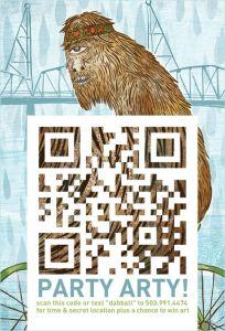 QR code de Party Arty, Seattle, 2011