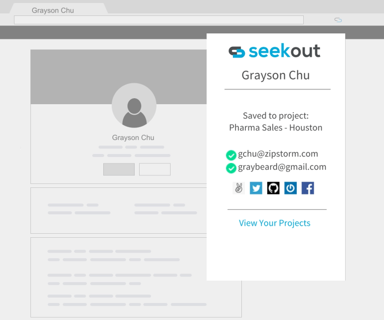 SeekOut Sourcing Assistant Chrome Extension