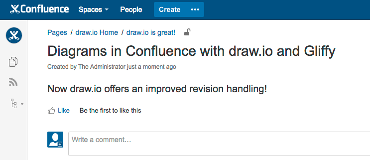Diagram versioning in confluence integrated revision history with new page in confluence ccuart Gallery