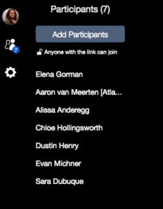 HipChat video chat user list