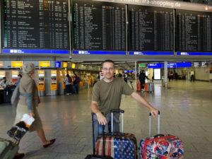 Torsten at the airport