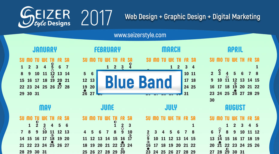 2017 Calendar Blue Band