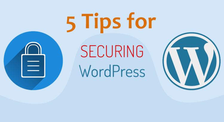 5 tips for securing WordPress websites