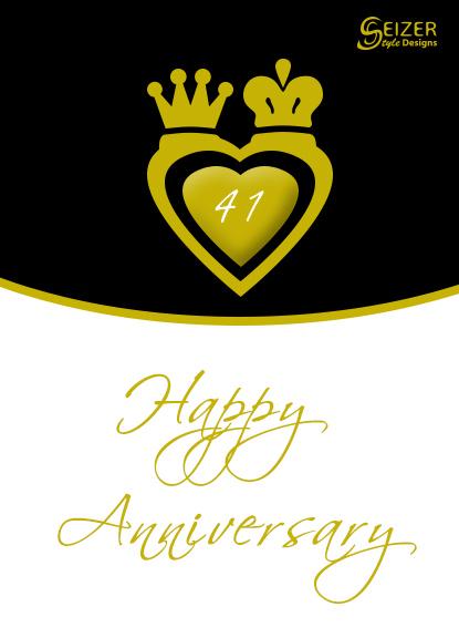 41st Anniversary Gold