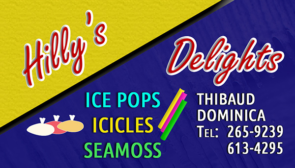 Hilly's Delights Business Card