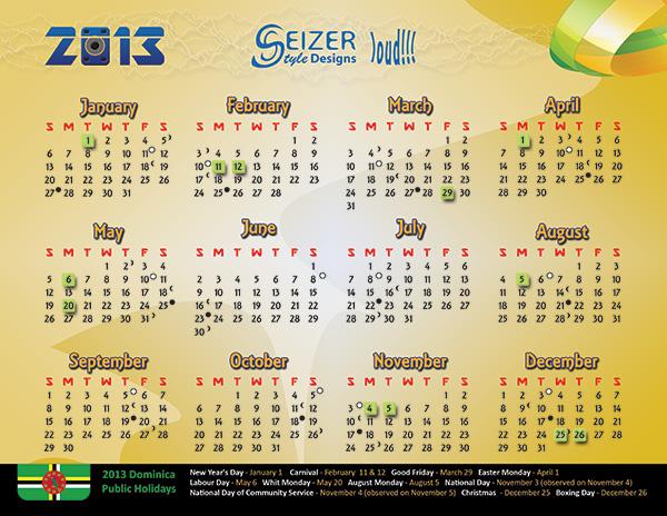 2013 calendar: Loud!
