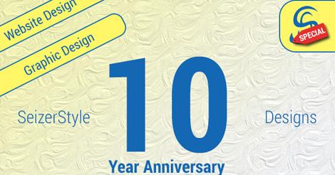 SeizerStyle Designs 10 Year Anniversary Discount