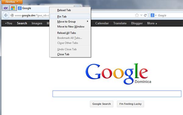 Pin Tab (Firefox)
