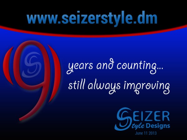 SeizerStyle Designs 9th Anniversary