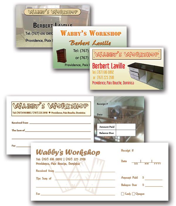 Wabby's Workshop Business Cards & Receipt Books