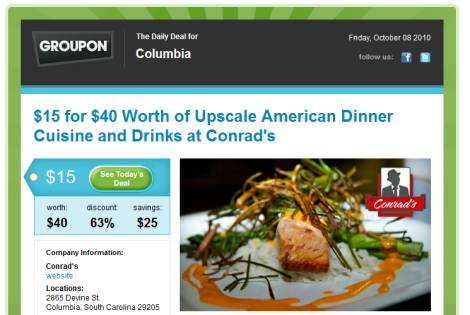 email groupon