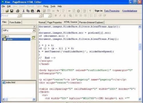 editor html pagebreeze