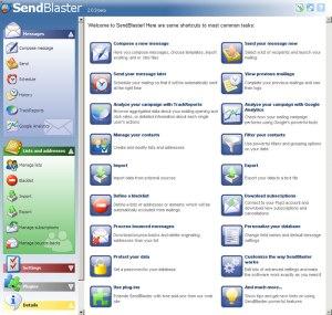 panel inicial de sendblaster 2