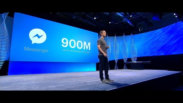 Mark Zuckerburg FM Messenger 900M users