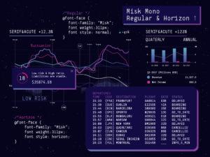 Misk Mono Regular & horizon