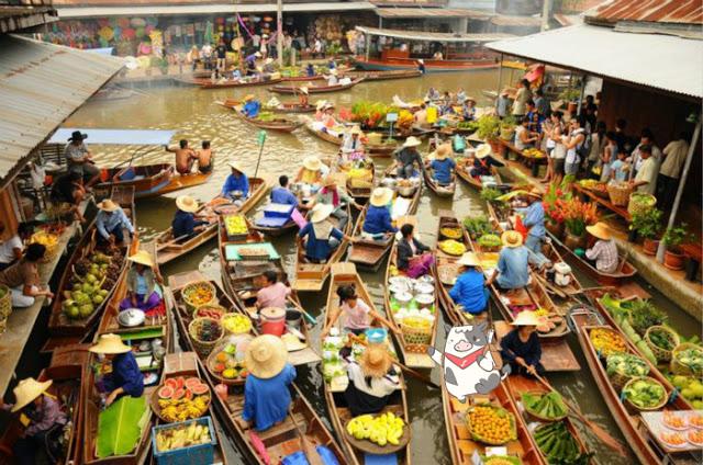 丹嫩沙朵水上市場 | 東南旅遊
