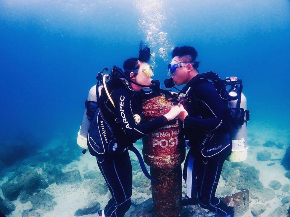 澎湖海底郵筒浮潛體驗|東南旅遊