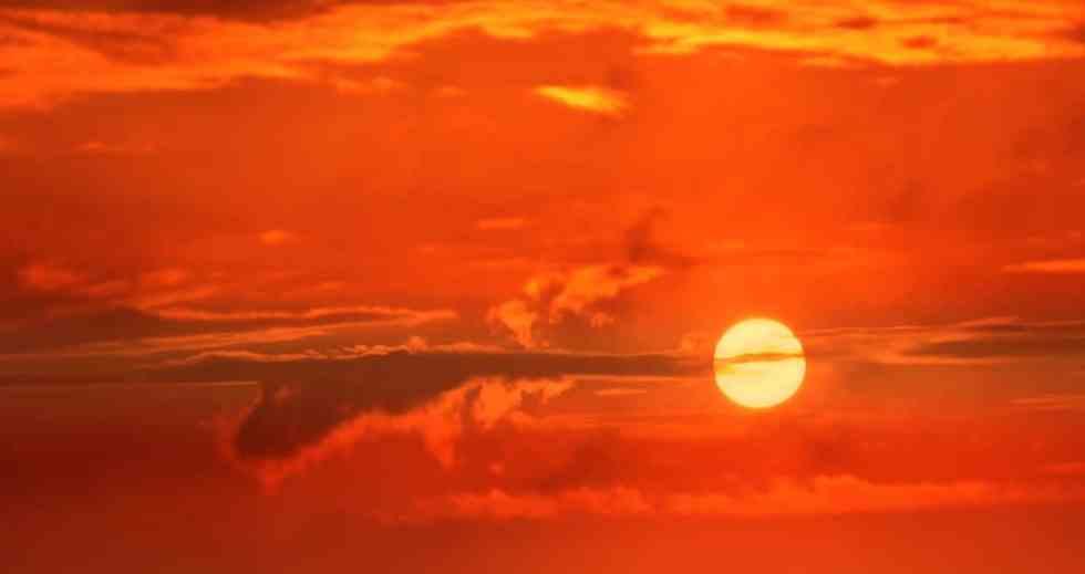 ▲清晨一早的日出