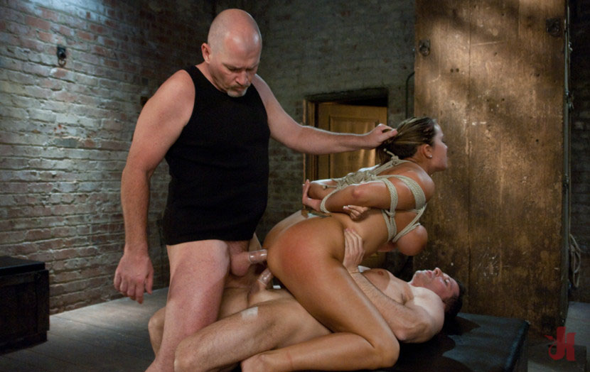 Sex And Submission - Busty Brunette Is Tied Up And Fucked -9282