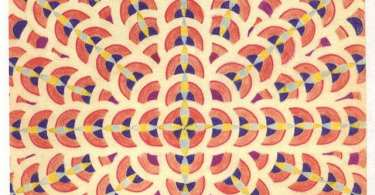 An image of a symmetrical pattern of colours that looks like a rangoli.