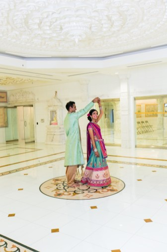 Indian wedding garba at the Jain Center of Southern California