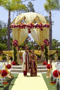 Mandap_SeaView_Terrace_Indian_Wedding_Newport_Beach_Marriott_gazebo